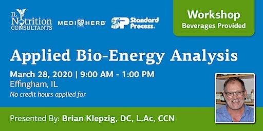 Applied Bio-Energy Analysis Workshop - Dr. Brian Klepzig (Effingham, IL)