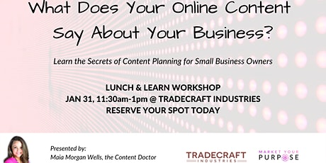 Online Content Lunch & Learn tickets