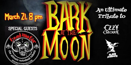 Bark at the Moon with Special Guest Head Motor tickets