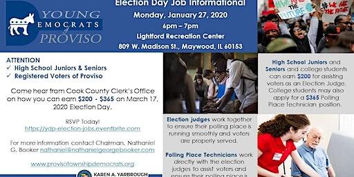 Election Day Job Informational - HS Jr & Sr + Registered Voters