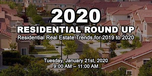 RESIDENTIAL ROUND UP - 2020