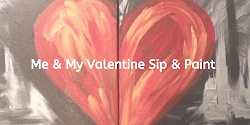 Me & My Valentine Kids Sip & Paint Party