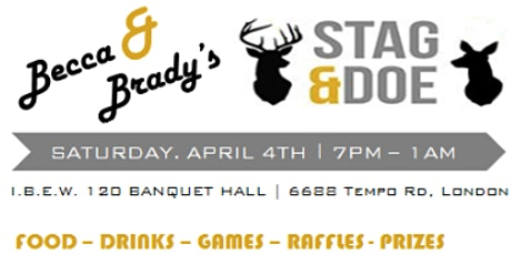 Becca and Brady's Stag and Doe tickets