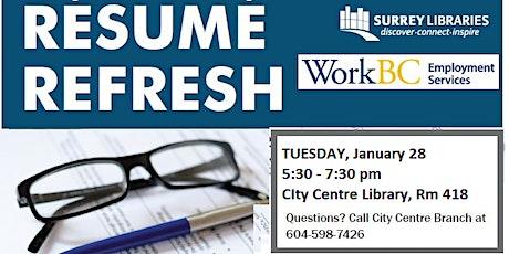 Resume Refresh Workshop tickets