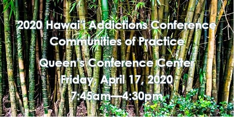2020 Hawai'i Addictions Conference tickets