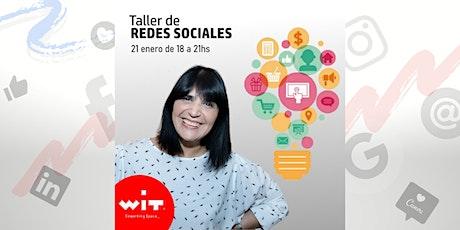 Taller Redes Sociales entradas