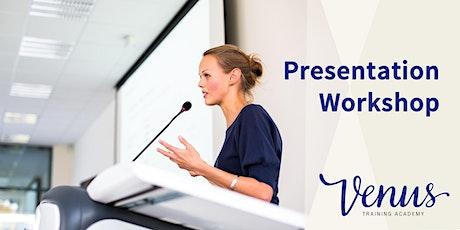 Venus Academy Wellington - Presentation Workshop (Day 2) - 16th October 2020 tickets