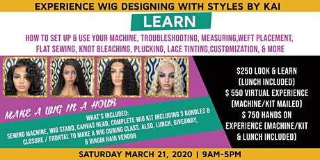 Make A Wig In a HOUR tickets