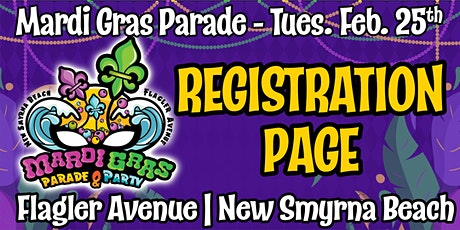 REGISTRATION for the Flagler Avenue Mardi Gras Parade tickets