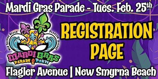 REGISTRATION for the Flagler Avenue Mardi Gras Parade