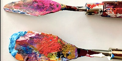Abstract Expressionist Painting with Palette Knives
