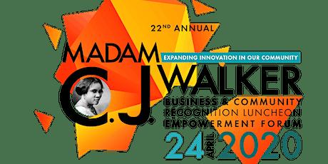 22nd Annual Madam C.J. Walker Luncheon & Empowerment Forum tickets