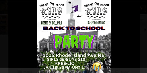 BREAK THE FLOOR - Back To School Party