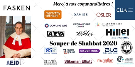 Souper de Shabbat de l'AEJD 2020 / AEJD Shabbat Dinner 2020 billets
