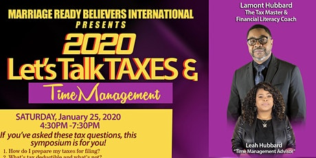 Let's Talk Taxes and Time Management tickets