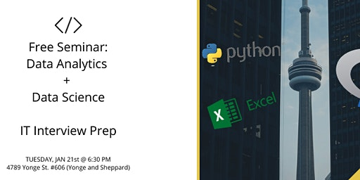 FREE SEMINAR: LEARN PYTHON! LEARN DATA ANALYTICS AND DATA SCIENCE Pt. 2
