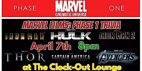 Marvel Films Trivia : Phase 1 tickets