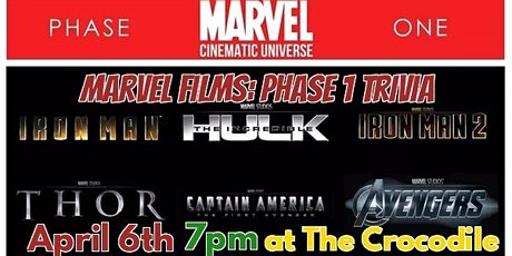 Marvel Films Trivia: Phase 1 @ The Back Bar tickets