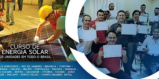 Curso de Energia Solar em João Pessoa Paraíba nos dias 10/02 e 11/02/2020