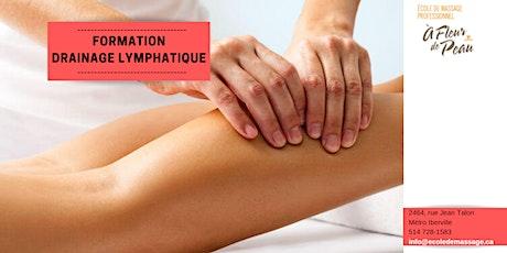 Drainage lymphatique - Méthode Leduc (60h) billets