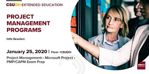 Info Session: Project Management Programs | CSUDH