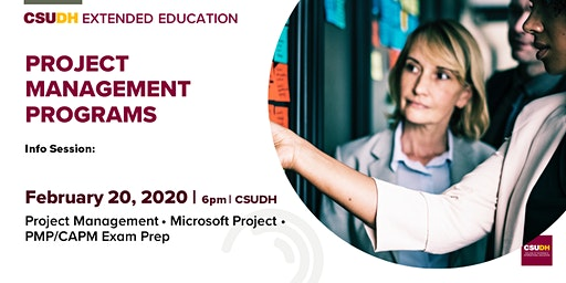 Info Session: Project Management Programs | CSUDH (February 2020)