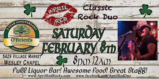 April Red Rockin' O'Brien's Irish Pub & Grill in Wesley Chapel!