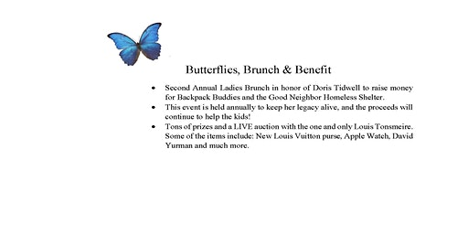 2nd Annual Butterflies, Brunch and Benefit