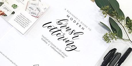 Beginners Brush Lettering Workshop - West Elm Costa Mesa tickets