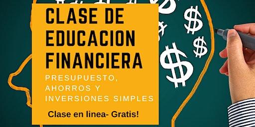 GRATIS! CLASE DE EDUCACION FINANCIERA - ONLINE