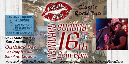 April Red Back to ROCK the Outback Bar at Ralph's aka San Ann!