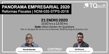 QRO | PANORAMA EMPRESARIAL 2020 | REFORMAS FISCALES & MITOS DE LA NOM-035 boletos