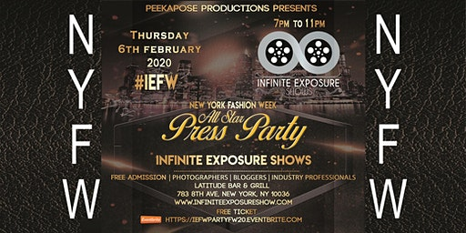 New York Fashion Week Press Party Infinite Exposure Shows