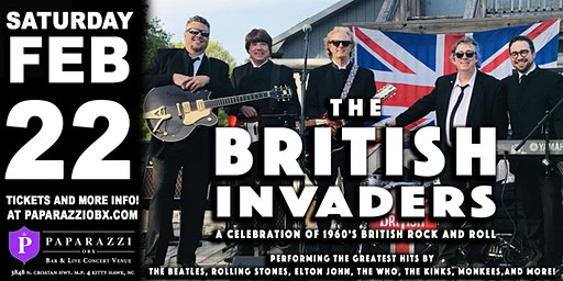 The British Invaders LIVE! at Paparazzi OBX!
