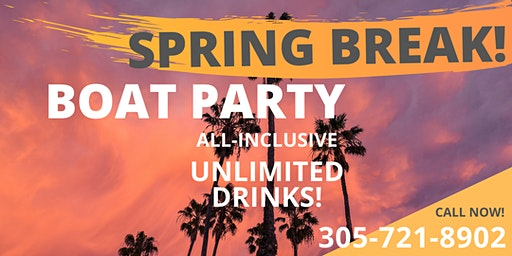 #Spring Break Party Boat Unlimited drinks