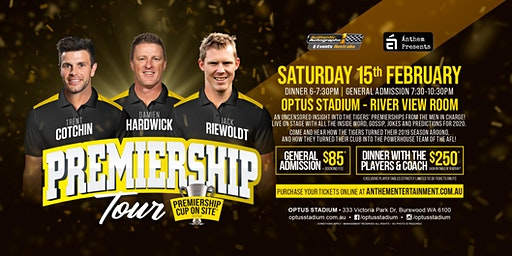 Premiership Tour feat Cotchin, Hardwick and Riewoldt at Optus Stadium!