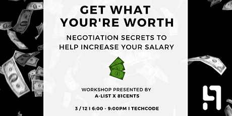 Get What You're Worth: Negotiation Secrets To Help Increase Your Salary tickets