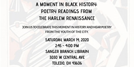 A Moment in Black History: Poetry Readings from the Harlem Renaissance tickets