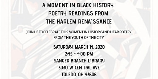 A Moment in Black History: Poetry Readings from the Harlem Renaissance