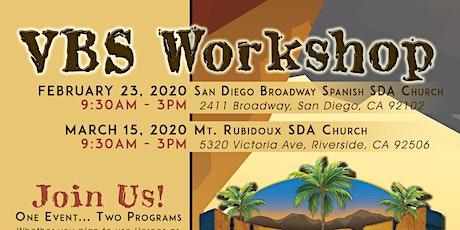 VBS Workshop 2020 (San Diego) tickets