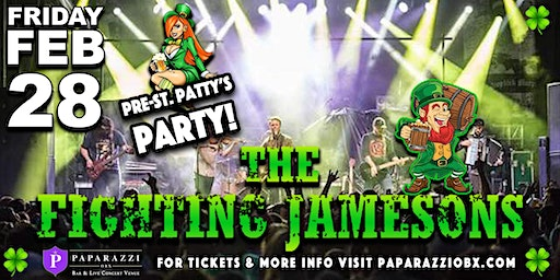 Pre-St. Patty's Party Feat. The Fighting Jamesons! Live at Paparazzi OBX!