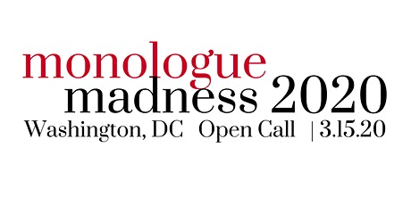 Monologue Madness 2020 - DC Actor Registration tickets