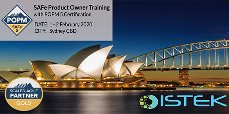 SAFe  Product Owner / Product Manager with POPM 5 Certification - SYdney tickets
