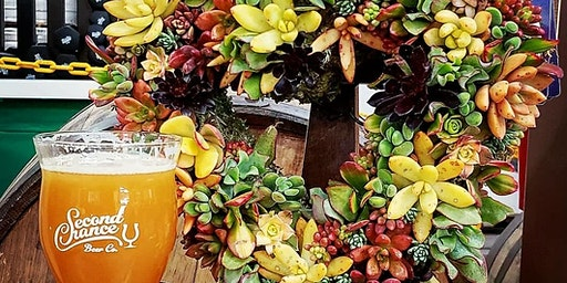 Succulent Heart Wreath Workshop At Second Chance Beer Co.