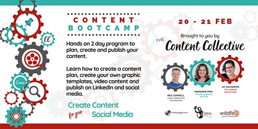 SOLD OUT! Content Bootcamp – Plan & Create Content for your Social Media