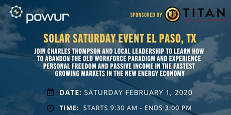 Solar Saturday Training Event - El Paso, Texas entradas
