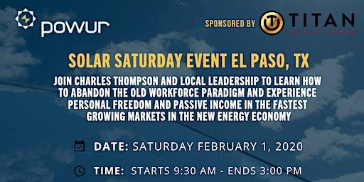 Solar Saturday Training Event - El Paso, Texas