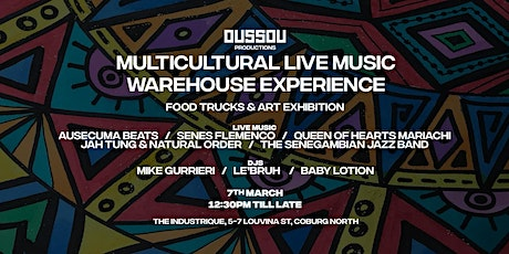 Multicultural Live Music Warehouse Event tickets