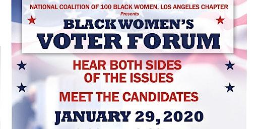 Black Women's Voter Forum 2020