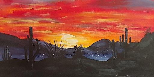 Paint & Sip -Tucson Sunset